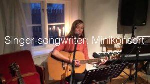 Minikonsert med kursdeltagarna i sångkursen Singer-songwriter på Komplett-sångteknik-huset på Södermalm i Stockholm.